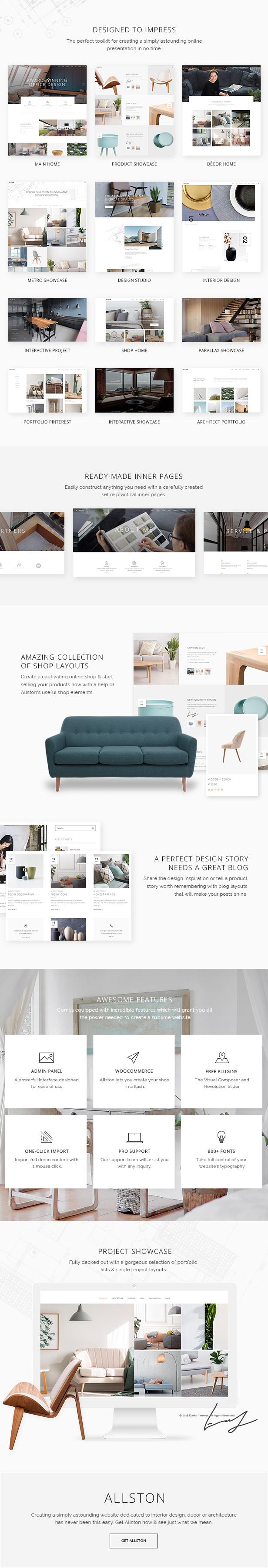 Allston - Contemporary Interior Design and Architecture Theme - 1